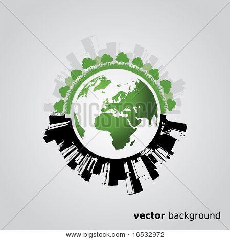 Eco Globe Vektor
