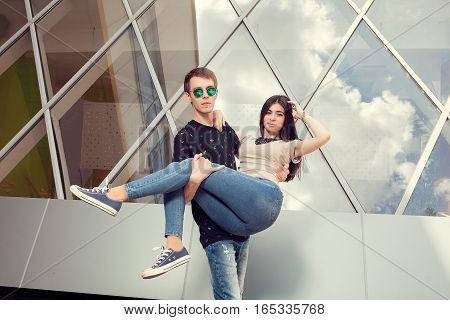 Couple Having Fun Outside