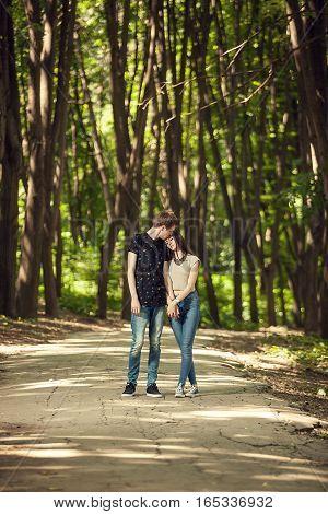 Boyfriend Kissing Girlfriend On The Forehead