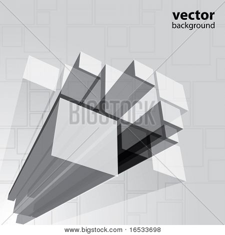 Abstract transparent grey background vector