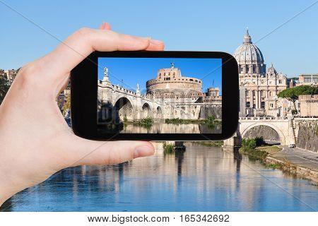 Tourist Photographs Castel Sant Angelo In Rome