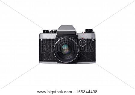Old mirror 35mm single lens film camera