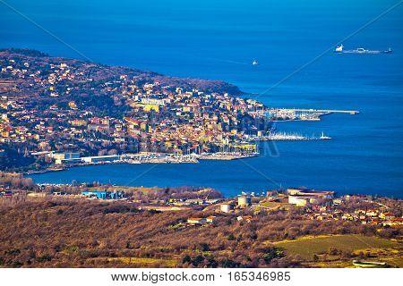Kopar And Izola Coastal Towns View