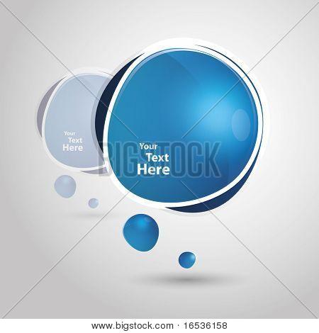 Big blue speech bubble