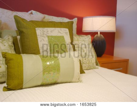 Fancy Green Pillows.