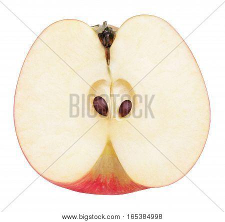 Half Of Red Apple Fruit