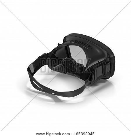 Scuba Mask on white background. Rear view. 3D illustration