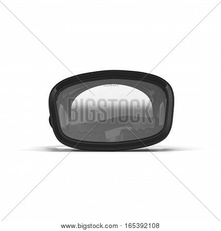 Diving mask on white background. Front view. 3D illustration