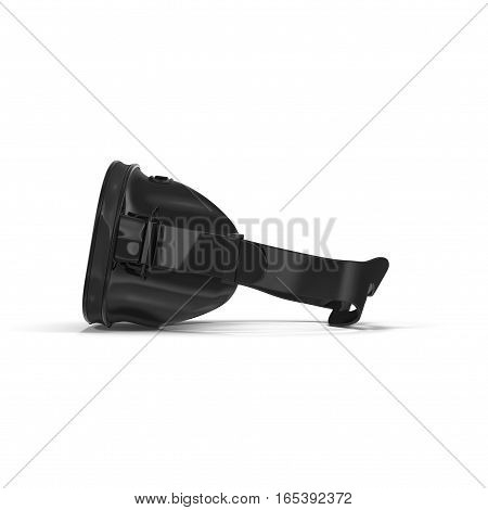 Side view Diving mask on white background. 3D illustration