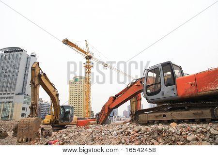 el heavy duty en los sitios de edificio.