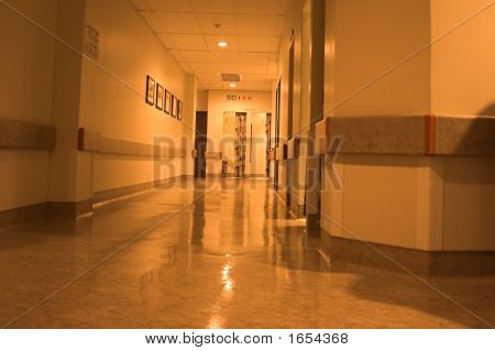 Long Hospital Hallway