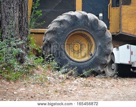 two tires front image big and small to the right