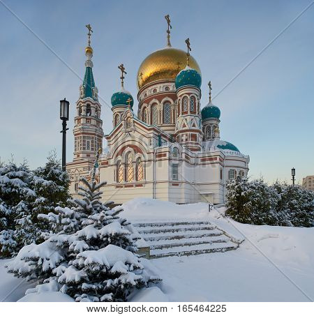 Center Of The City Of Omsk, Cathedral Square,  Siberia, Russia.