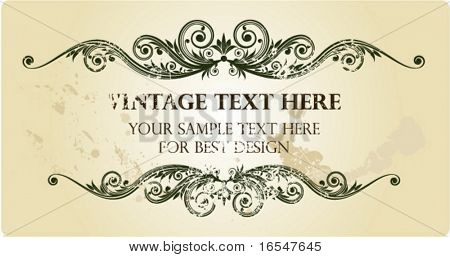 Vintage frame for your text