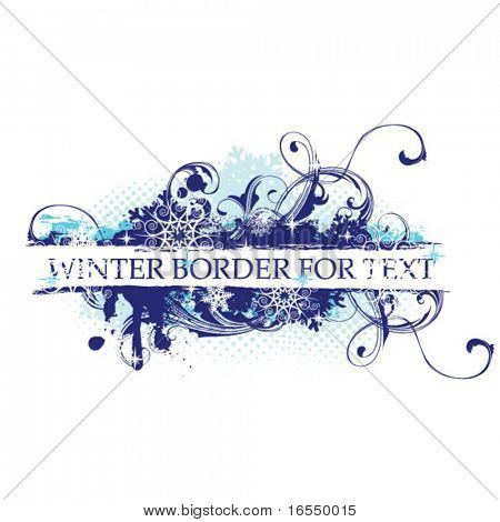 Blue floral border for text