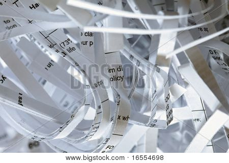 Identity theft concept, shredded personal information