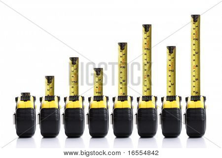 Tape measure bar graph concept