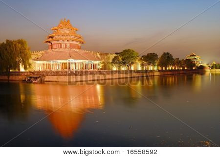 Forbidden City at night, Beijing, China