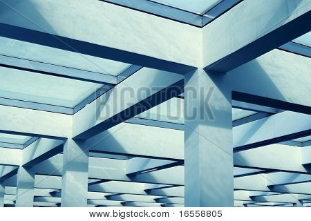 steel structure of modern office