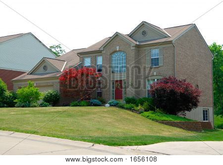 Residential 2-Story Brick Home