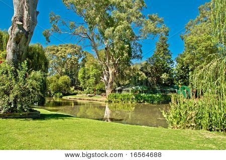 Park & Lagoon In Outback Town