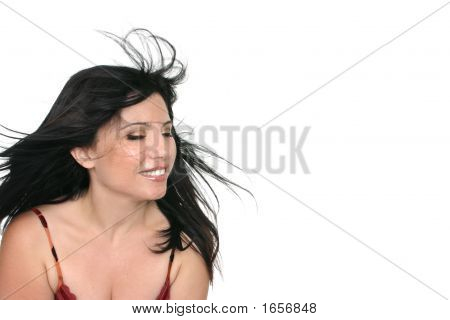 Breezy Brunette Woman