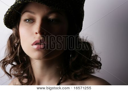 schöne Frau. Make-up & Mode