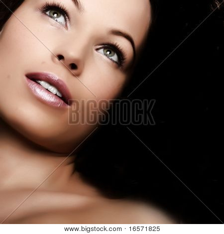 Beautiful woman. Make-up and Beauty