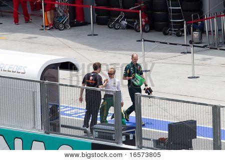 View of Heikki Kovalainen
