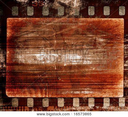 Grunge film frame, vintage background