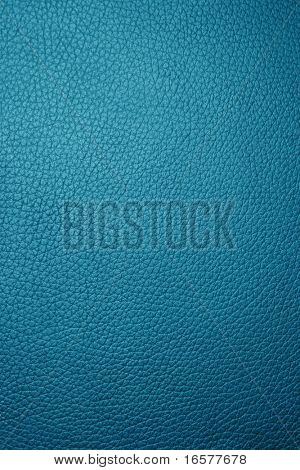 Blue leather texture - Macro