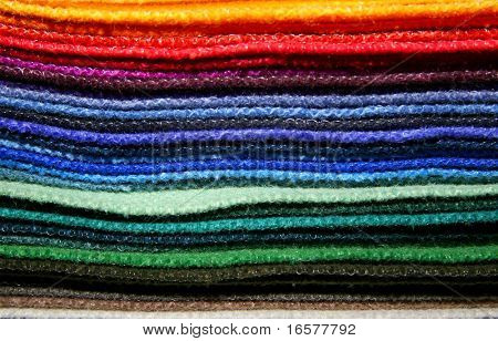 Variety of fabric color samples