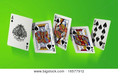 Royal flush the highest hand in poker - large resolution file