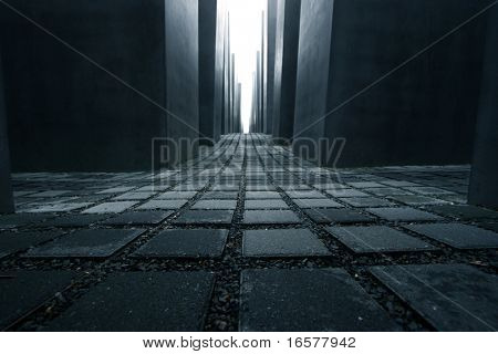 Symbolic photo of the Holocaust memorial monument in Berlin Germany