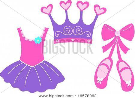 Ballet Elements Vector Illustration