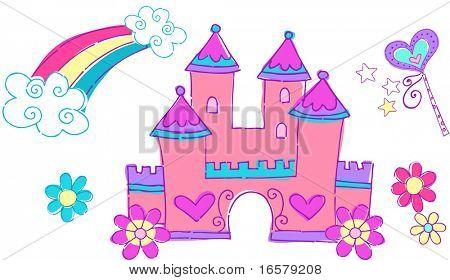Ilustración de Vector de Castillo de princesa