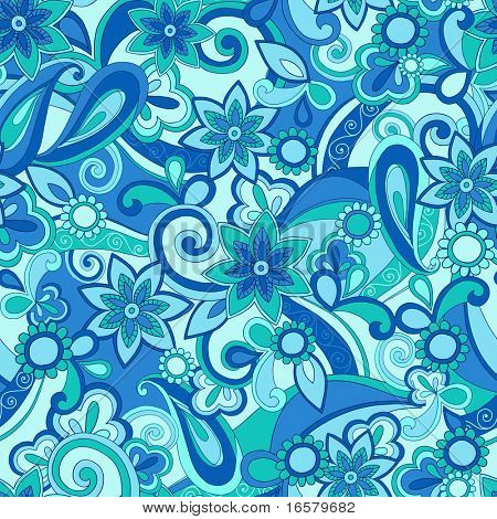 Funky Pucci Seamless Repeat Pattern Vector Illustration