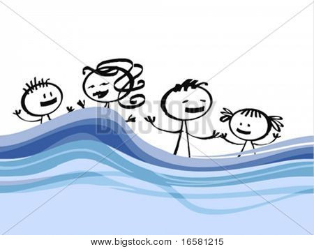 Family and holidays illustration - - -