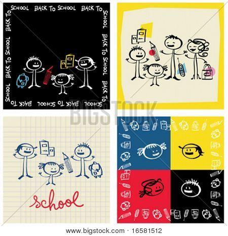 Ilustração do novo ano escolar