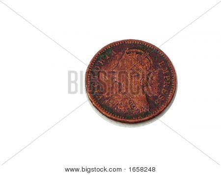 Old Indian Coin - Victorian