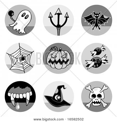 Halloween icons- illustrations - icons set -
