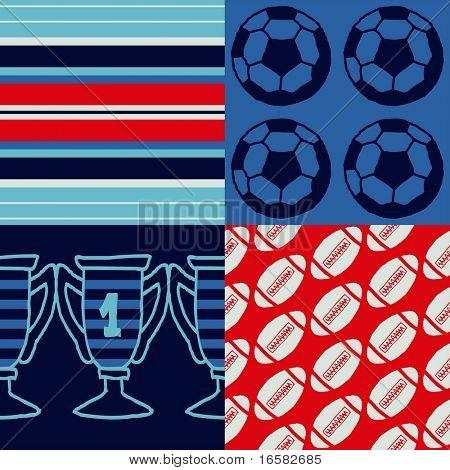Pop-art seamless pattern - sports - -