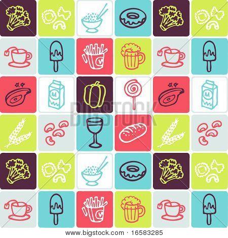 food check pattern 2 - illustrations - icons set -