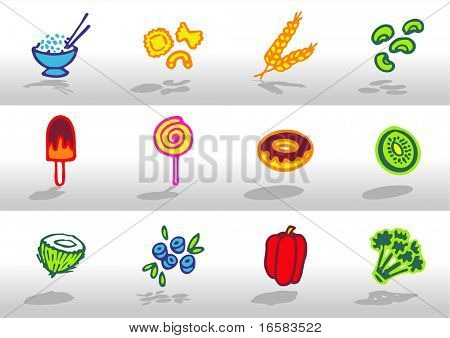 Food icons 4 - illustrations - icons set -