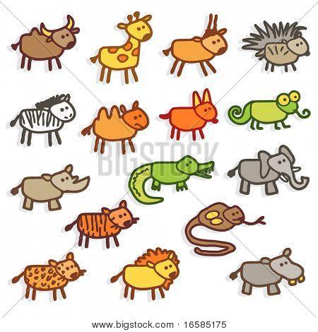 animais selvagens - cores
