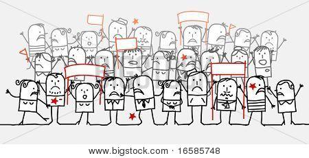 angry crowd