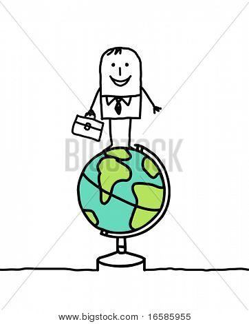 earth and businessman