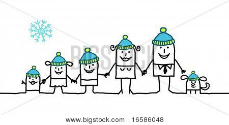 family and winter