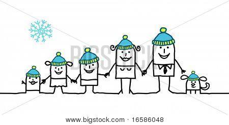 família e inverno
