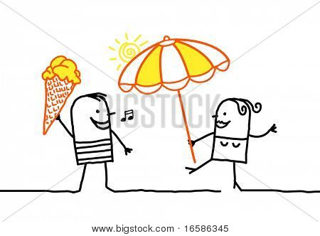 ice cream and parasol
